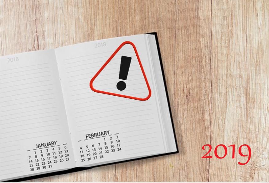 Obligaciones fisc enero febrero 2019
