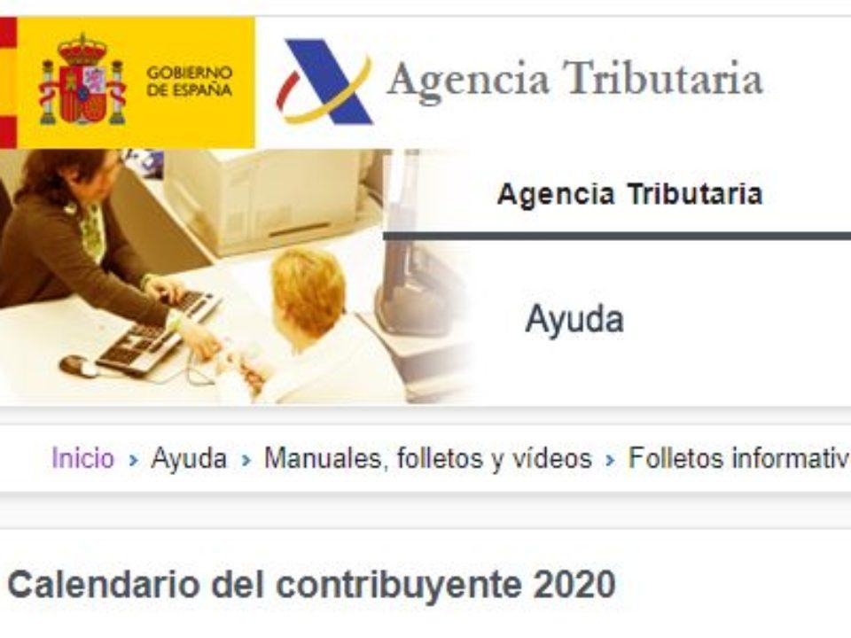 Calendario contribuyente 2020