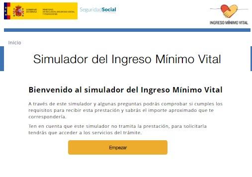 Simulador del ingreso mínimo vital
