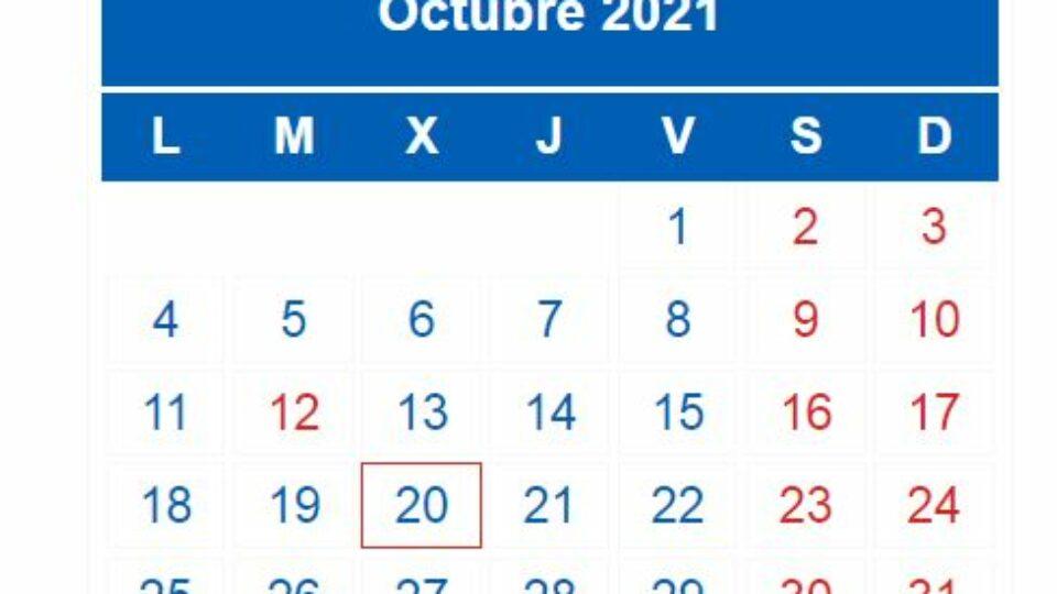 calendario 3t 2021