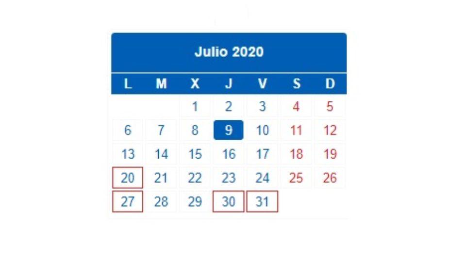 julio 2020 hacienda